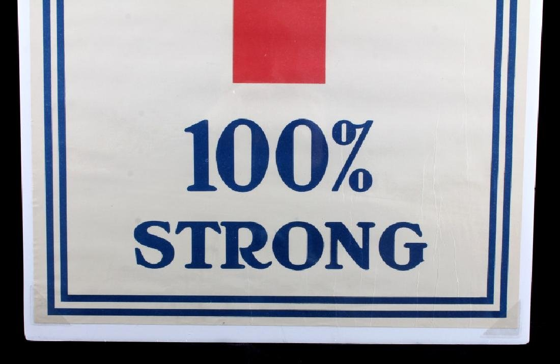 WWI Red Cross 100 Percent Strong Poster c. 1918 - 6