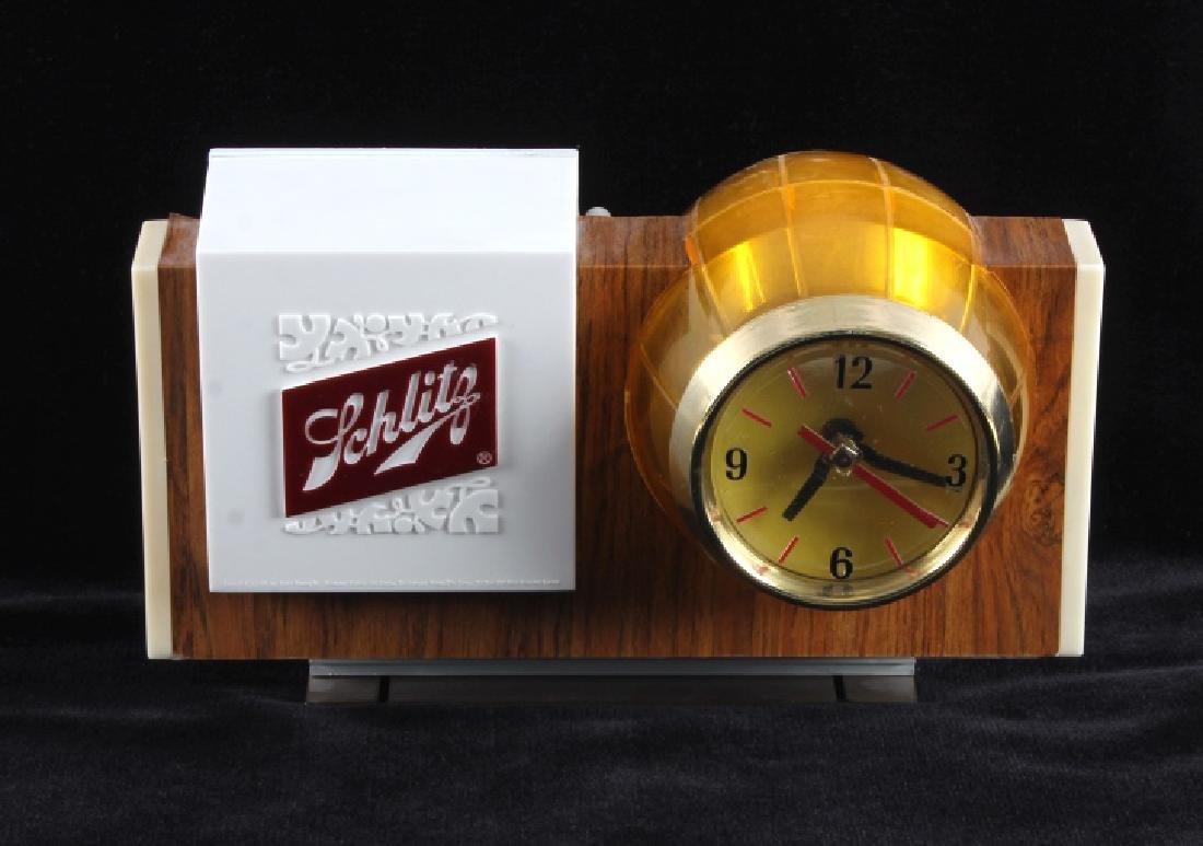 Schlitz Beer Lighted Advertising Clock Sign