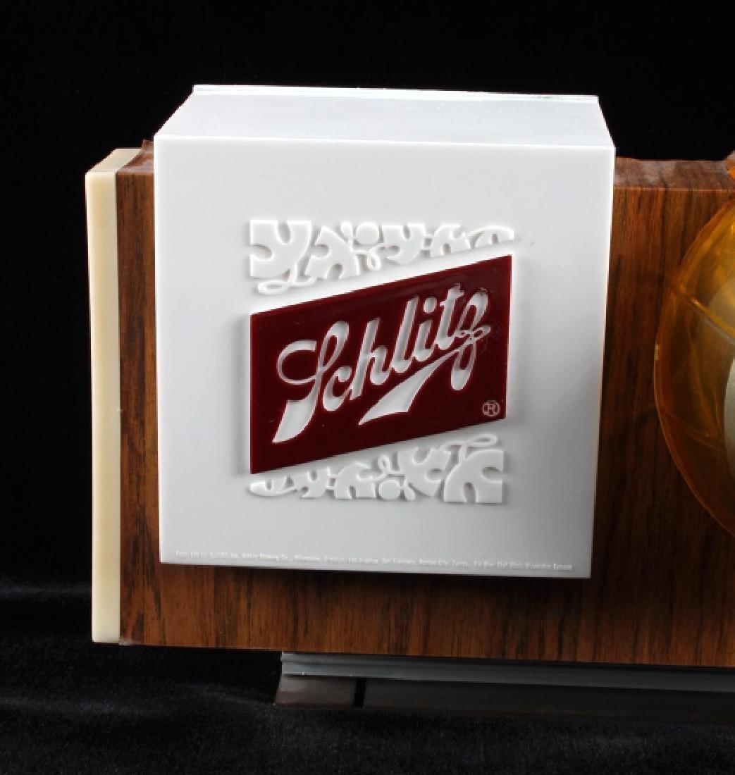 Schlitz Beer Lighted Advertising Clock Sign - 2