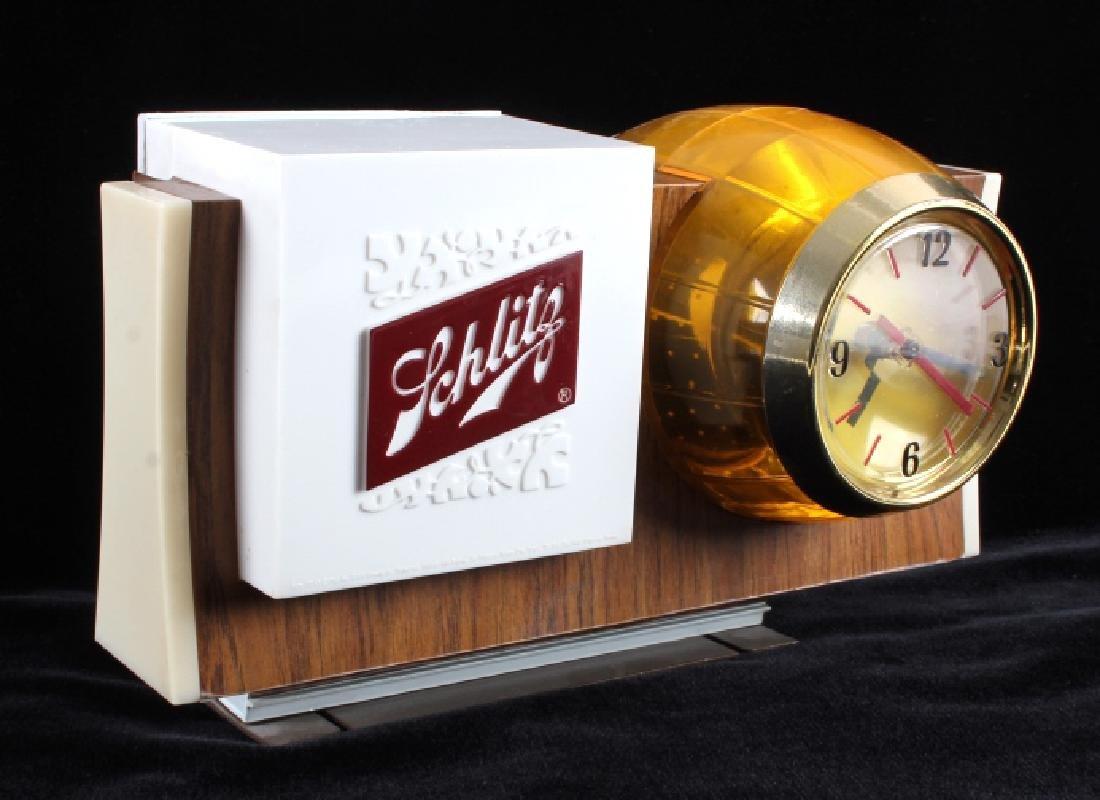 Schlitz Beer Lighted Advertising Clock Sign - 4