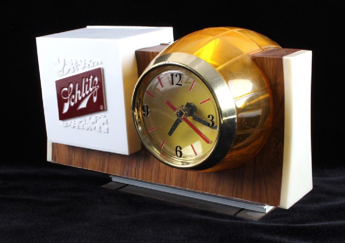 Schlitz Beer Lighted Advertising Clock Sign - 5
