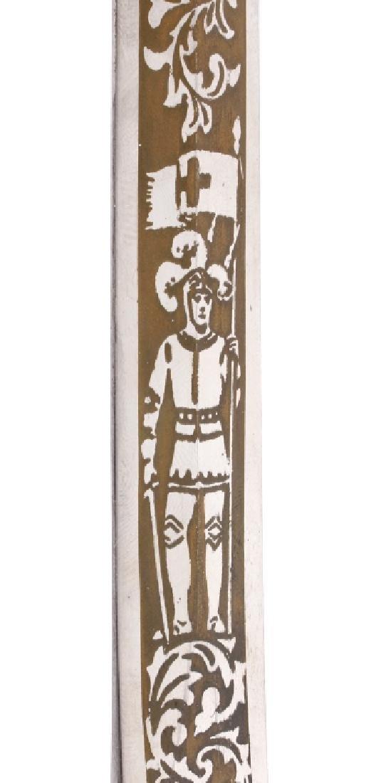 Ornate Henderson Ames Co. Fraternal Order Sword - 12