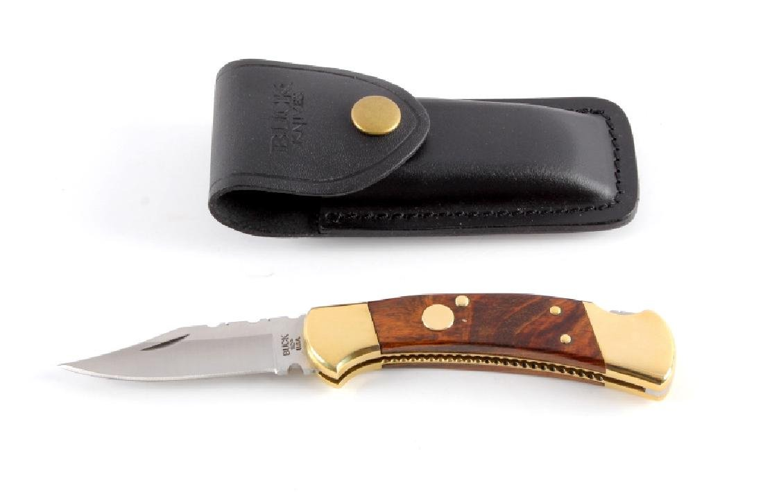 Buck 112 Custom Switchblade Knife w/ Scabbard