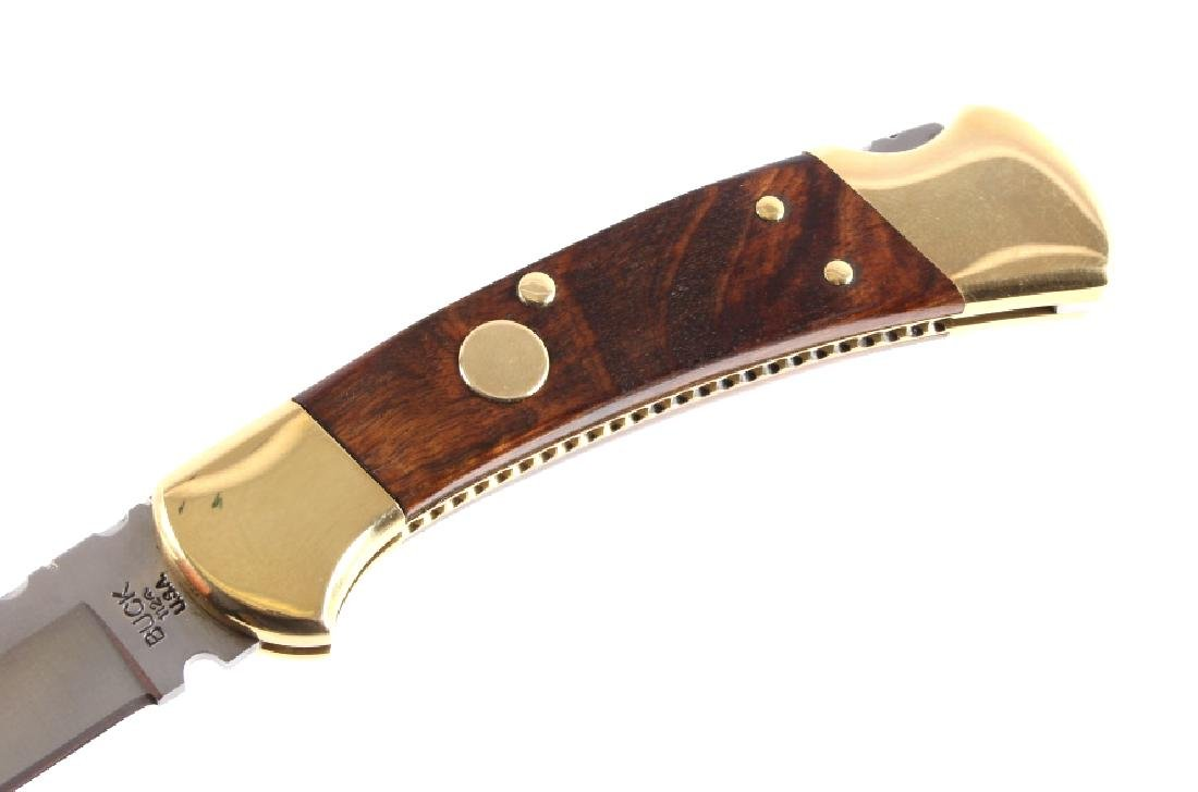 Buck 112 Custom Switchblade Knife w/ Scabbard - 5