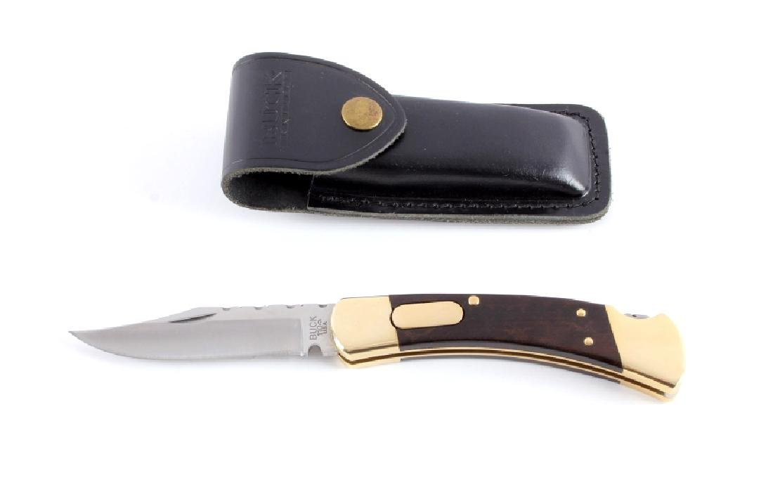 Buck 110 Custom Switchblade Knife w/ Scabbard