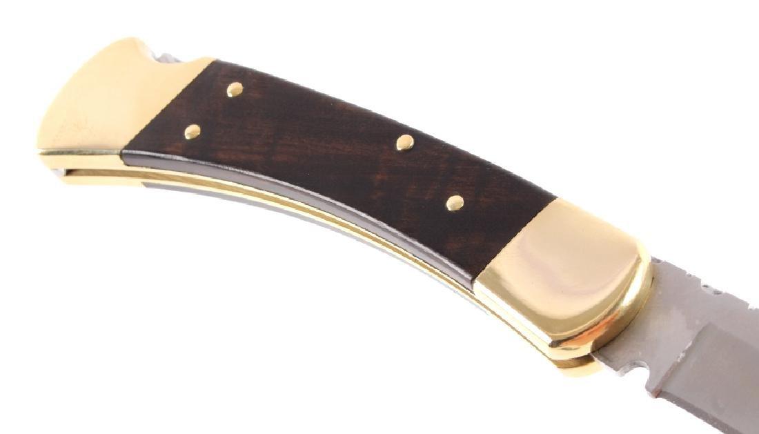 Buck 110 Custom Switchblade Knife w/ Scabbard - 6