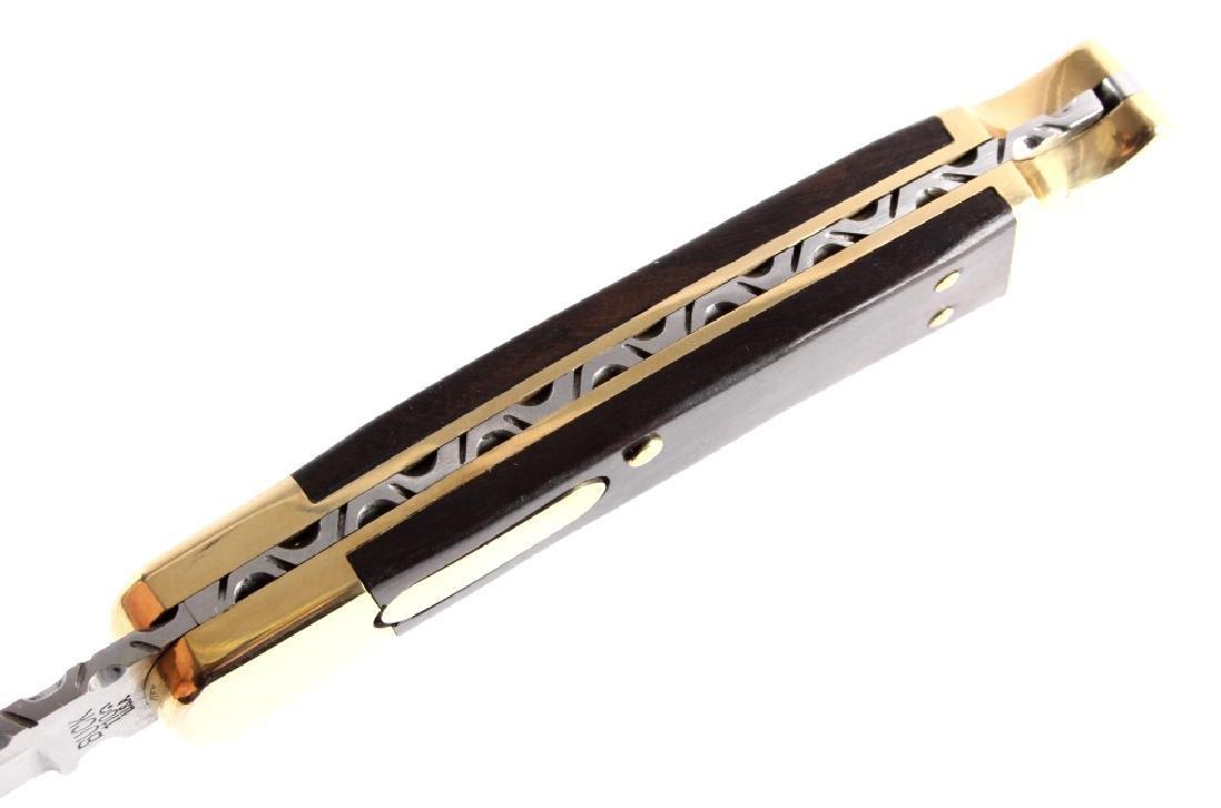 Buck 110 Custom Switchblade Knife w/ Scabbard - 7