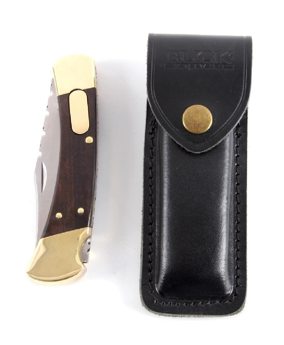 Buck 110 Custom Switchblade Knife w/ Scabbard - 8