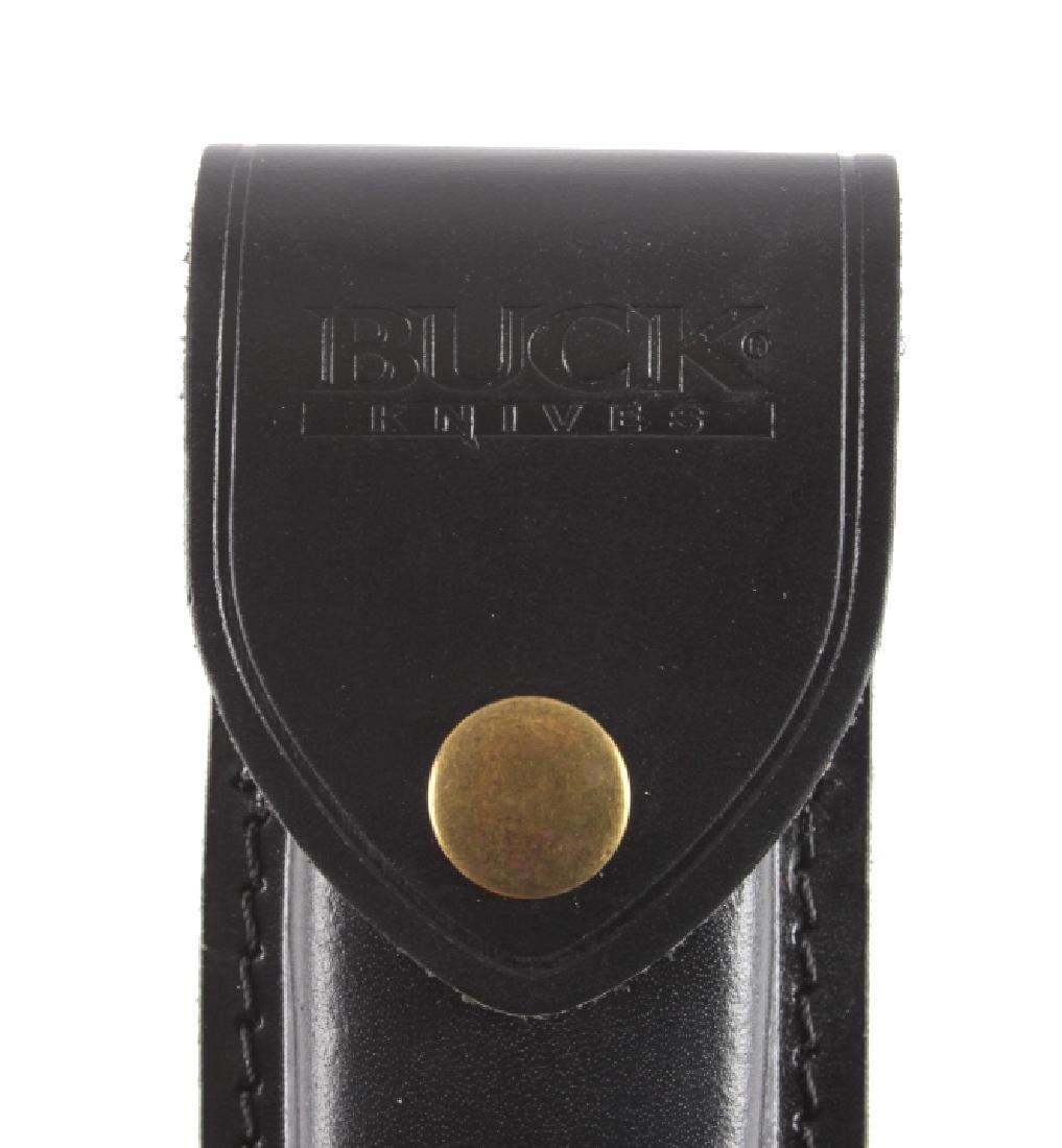 Buck 110 Custom Switchblade Knife w/ Scabbard - 9