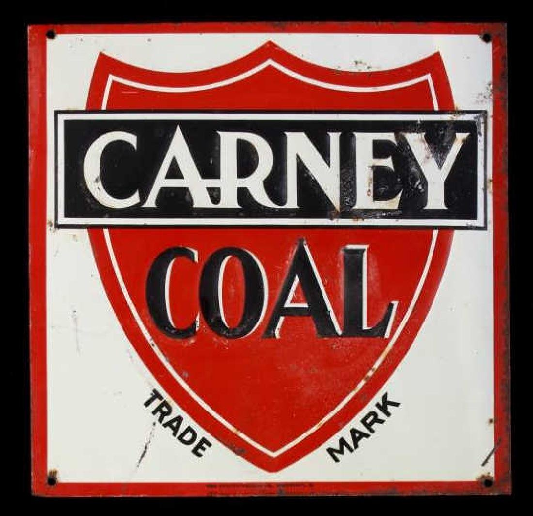 Carney Coal Company Embossed Tin Advertising Sign