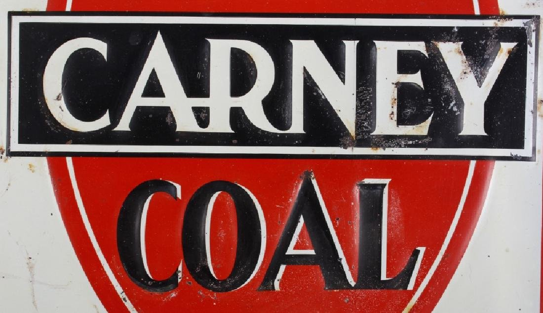 Carney Coal Company Embossed Tin Advertising Sign - 2