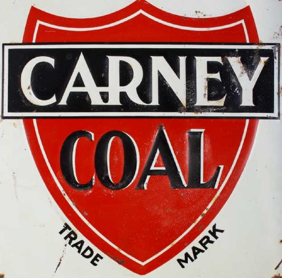 Carney Coal Company Embossed Tin Advertising Sign - 3