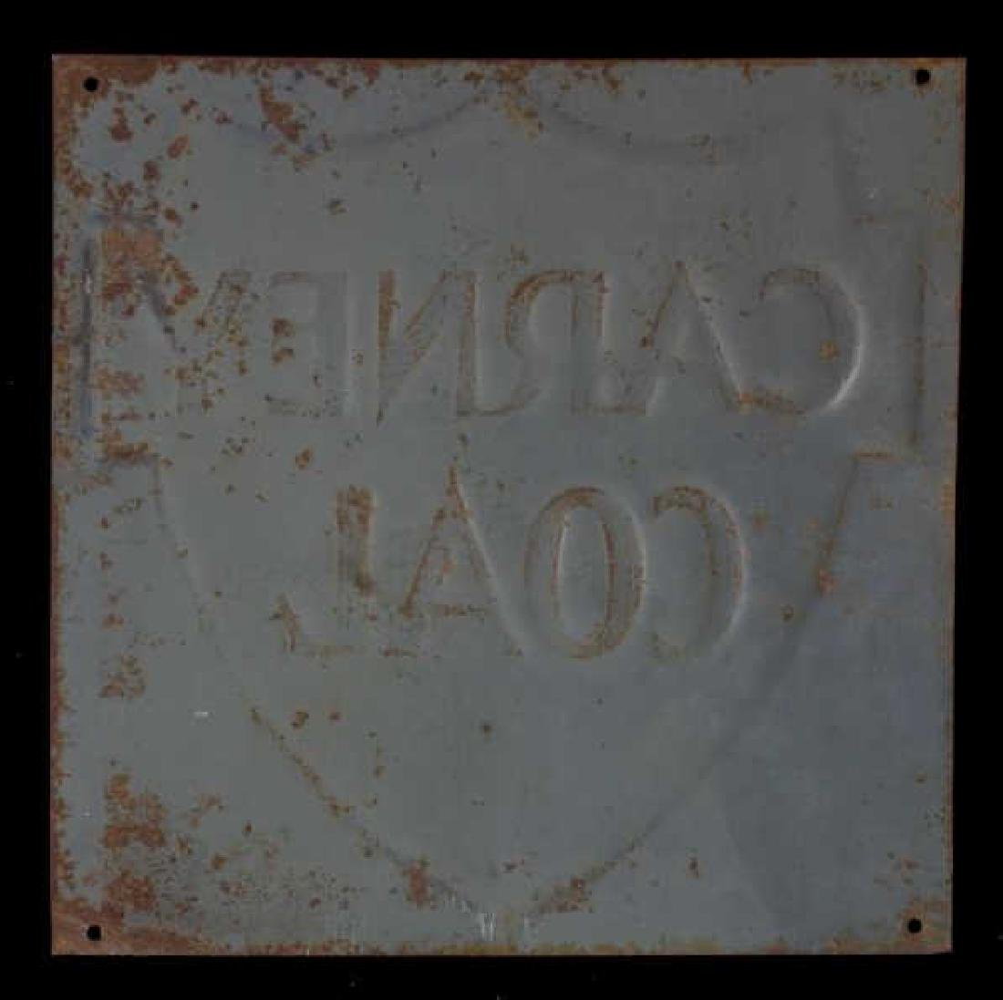 Carney Coal Company Embossed Tin Advertising Sign - 8
