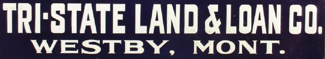 Original Westby Montana Farm Loan Sign Early 1900 - 3