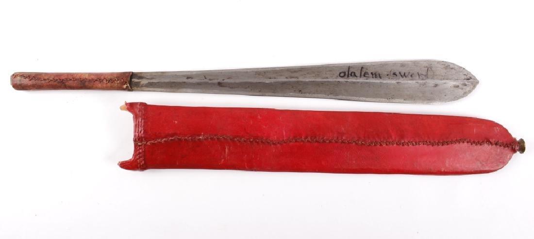 Kenyan - Maasai Peoples Ol Alem Herders Sword - 2