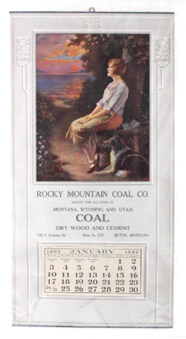 1926 Rocky Mountain Coal Calendar Butte Montana