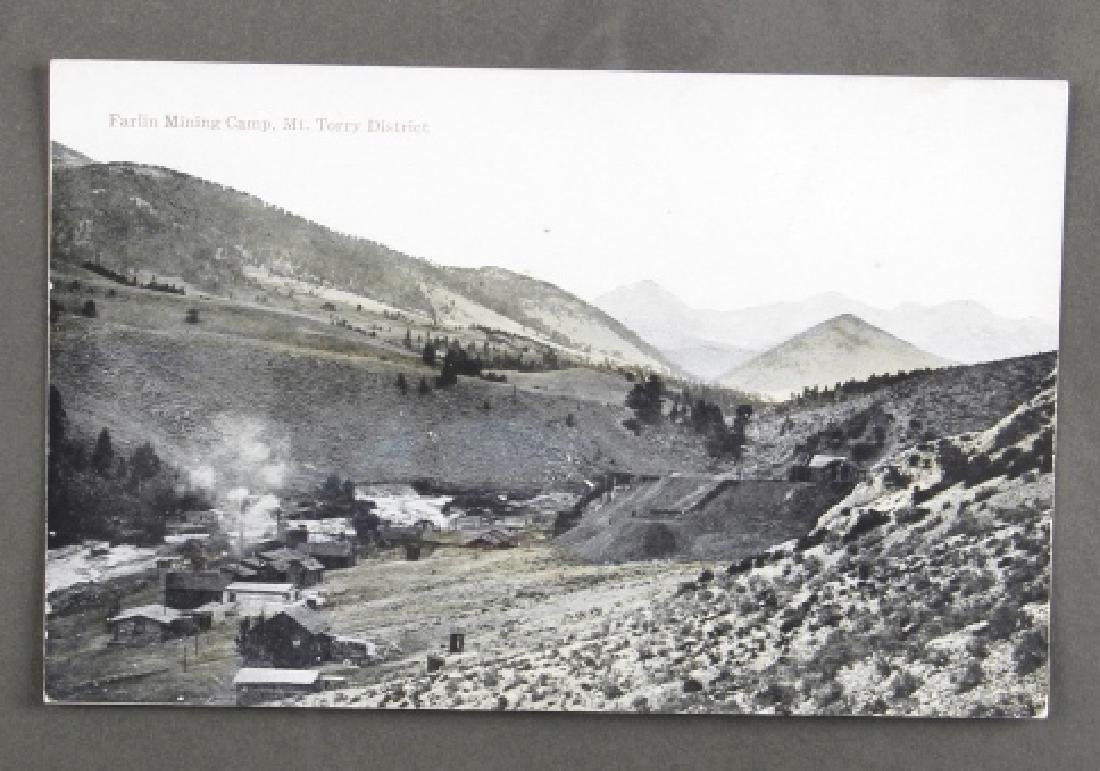Early Real Photo Montana Gold Mining Post Cards - 4