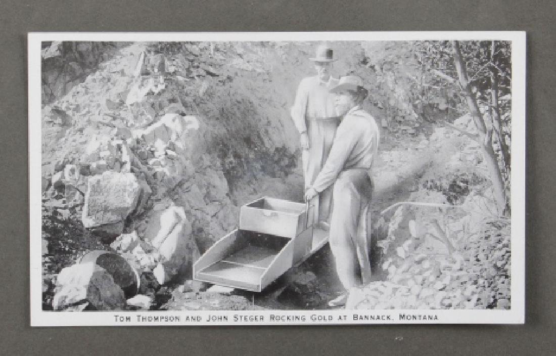 Early Real Photo Montana Gold Mining Post Cards - 5