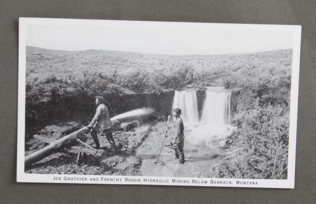 Early Real Photo Montana Gold Mining Post Cards - 9