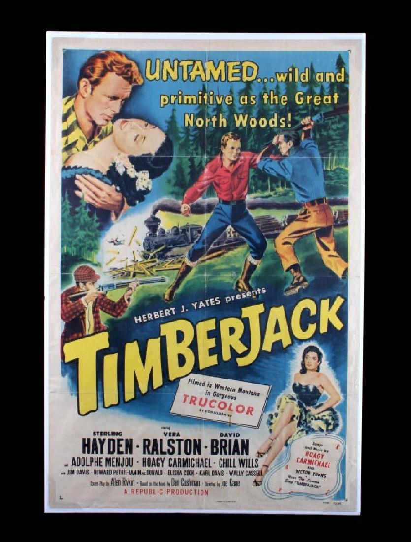 Original 1955 Timberjack Movie Poster - 10