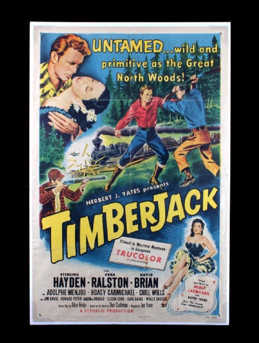 Original 1955 Timberjack Movie Poster