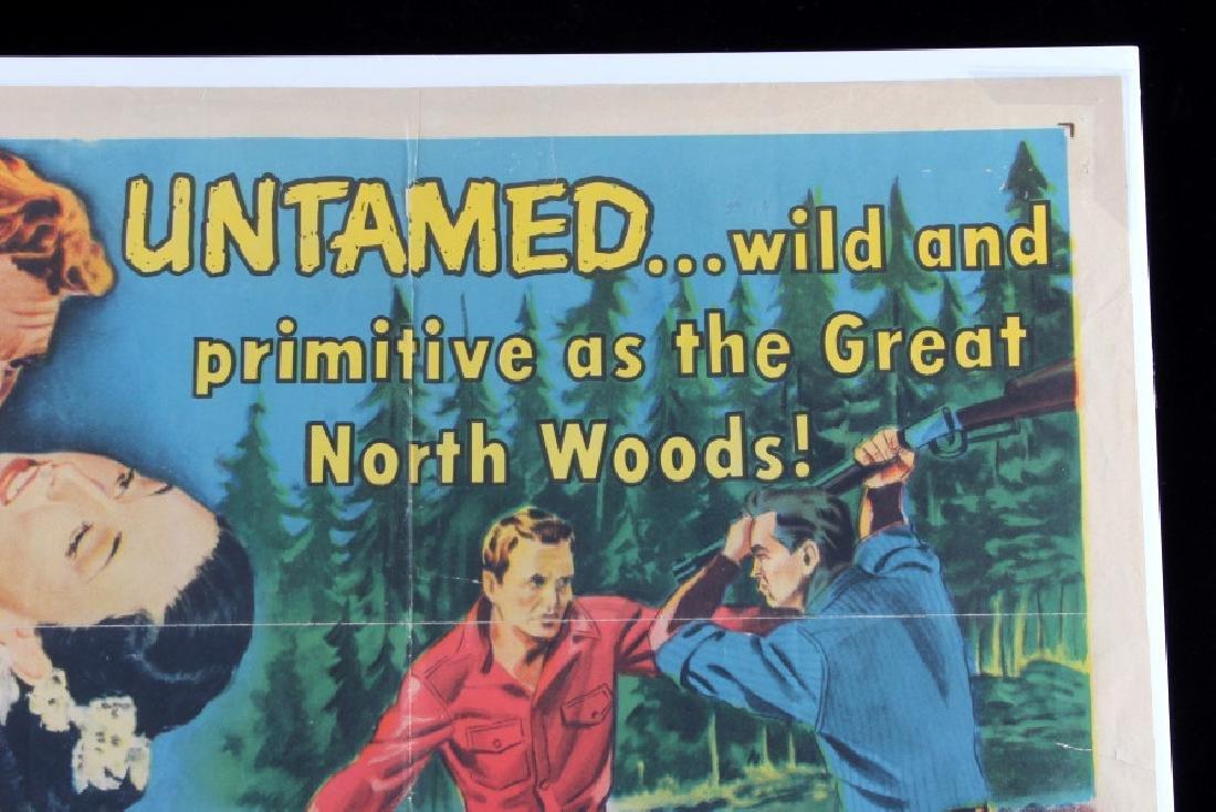 Original 1955 Timberjack Movie Poster - 2