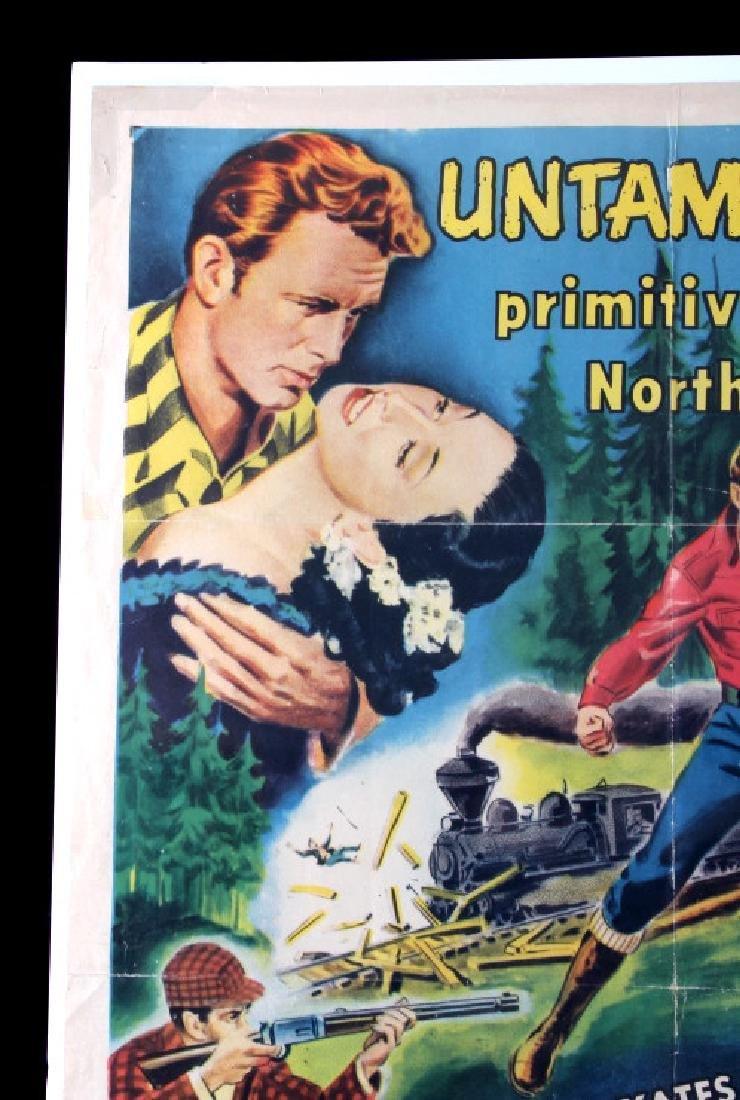 Original 1955 Timberjack Movie Poster - 3