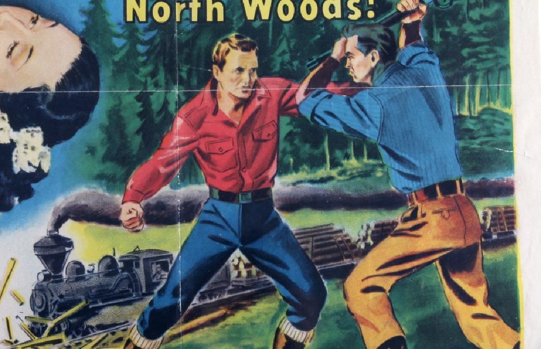 Original 1955 Timberjack Movie Poster - 4