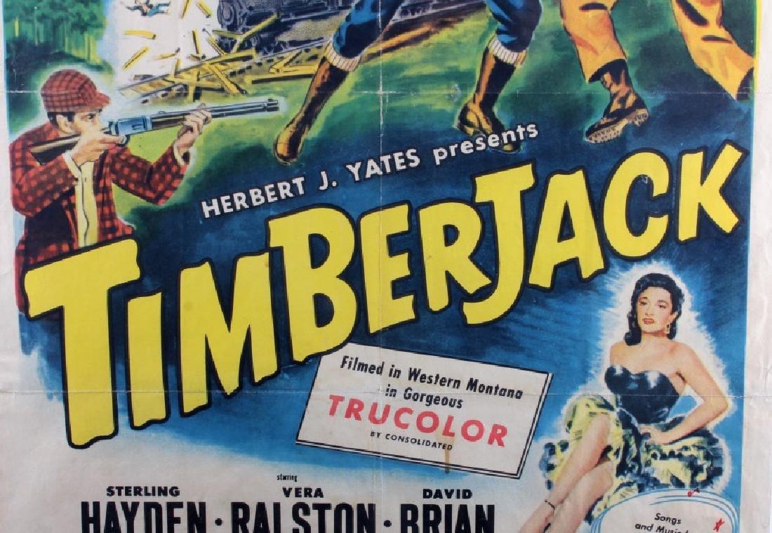Original 1955 Timberjack Movie Poster - 6