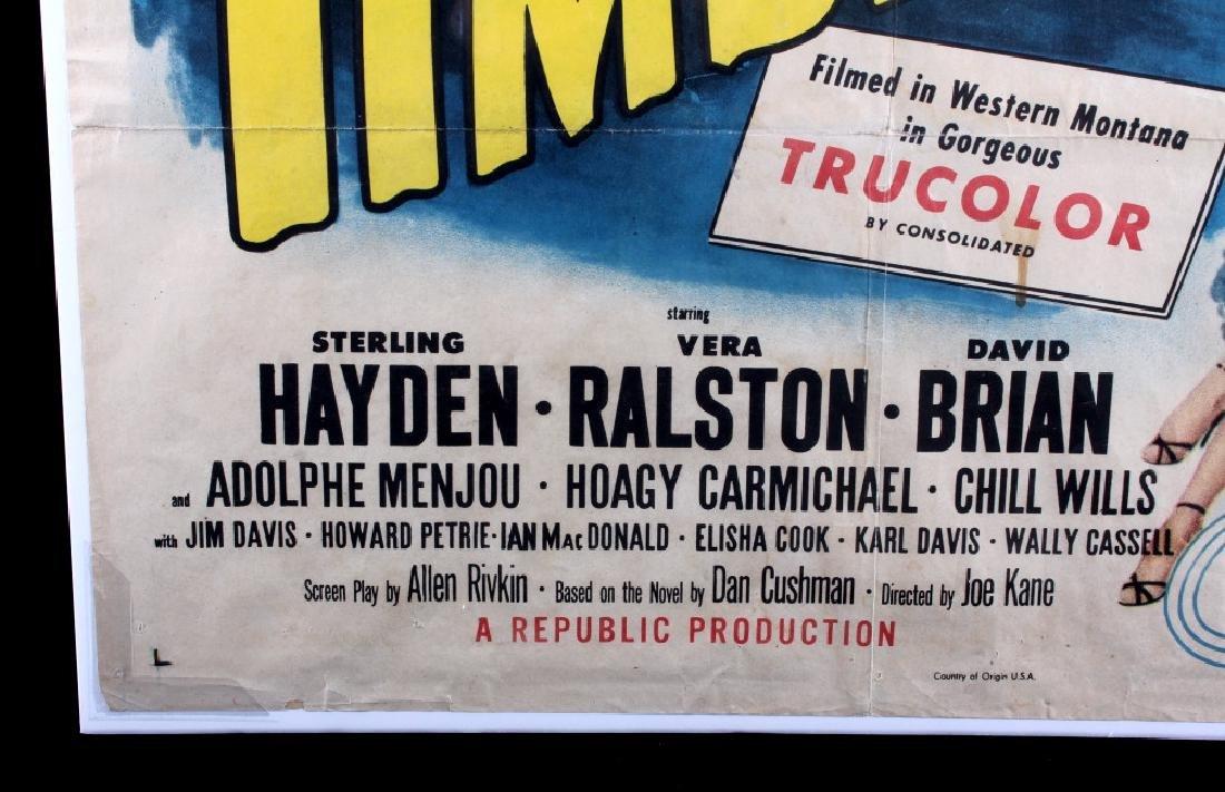 Original 1955 Timberjack Movie Poster - 8