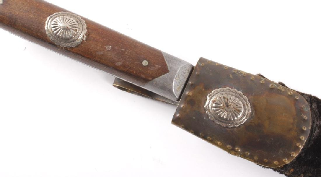 Antique Gamblers Inlaid Pewter Boot Knife - 3