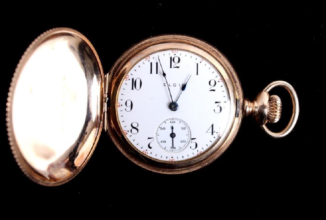 Elgin 15Jewel 14K Gold Filled Pocket Watch - 10