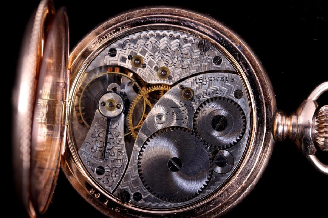 Elgin 15Jewel 14K Gold Filled Pocket Watch - 3