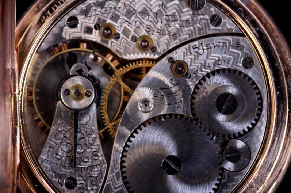 Elgin 15Jewel 14K Gold Filled Pocket Watch - 4