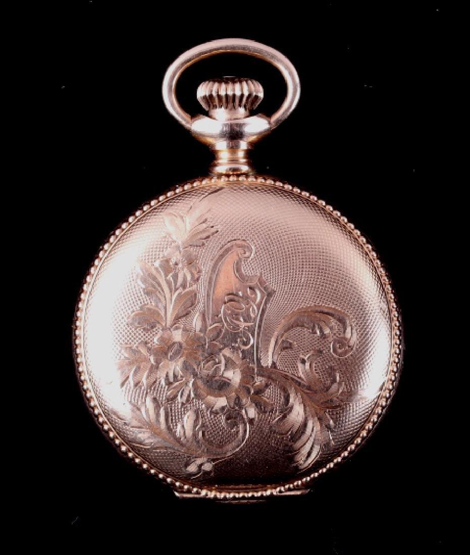 Elgin 15Jewel 14K Gold Filled Pocket Watch - 8