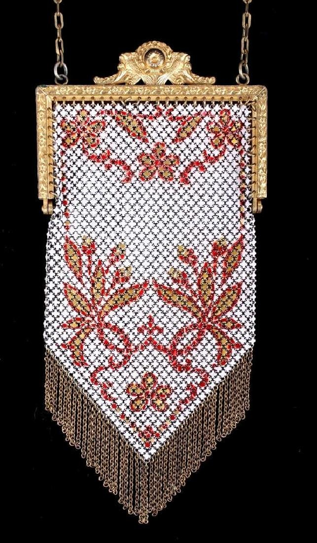 Mandalian Enameled Metal Mesh Handbag, 1920's-30's - 2