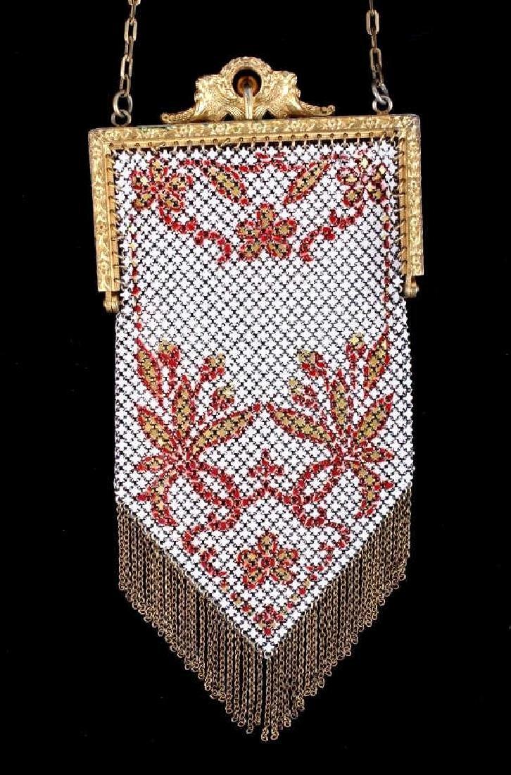 Mandalian Enameled Metal Mesh Handbag, 1920's-30's - 3
