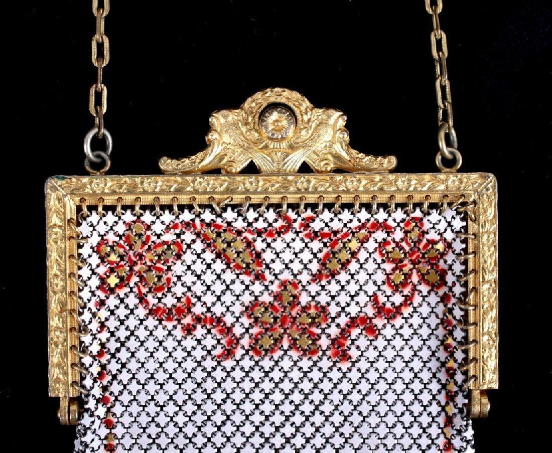 Mandalian Enameled Metal Mesh Handbag, 1920's-30's - 4