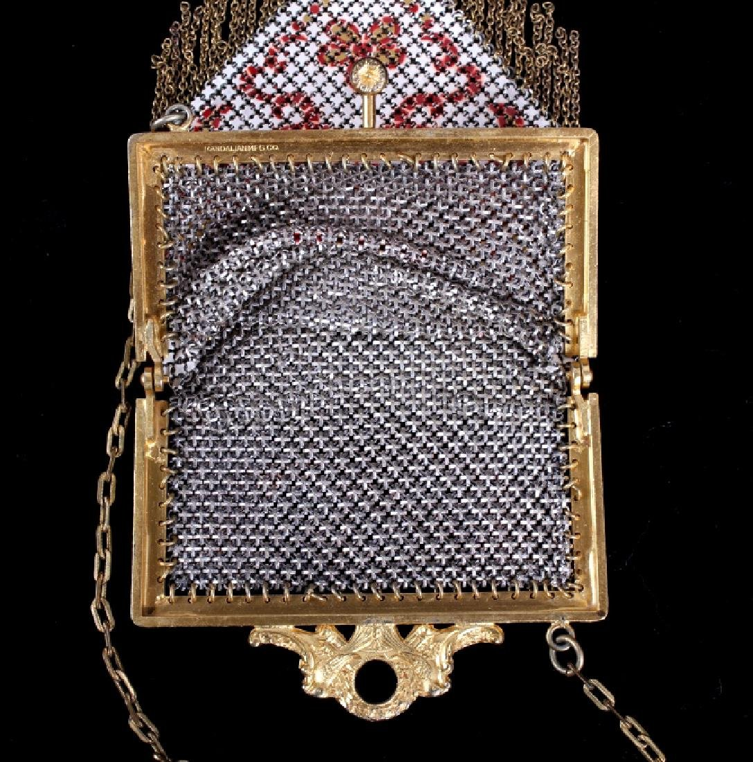 Mandalian Enameled Metal Mesh Handbag, 1920's-30's - 6