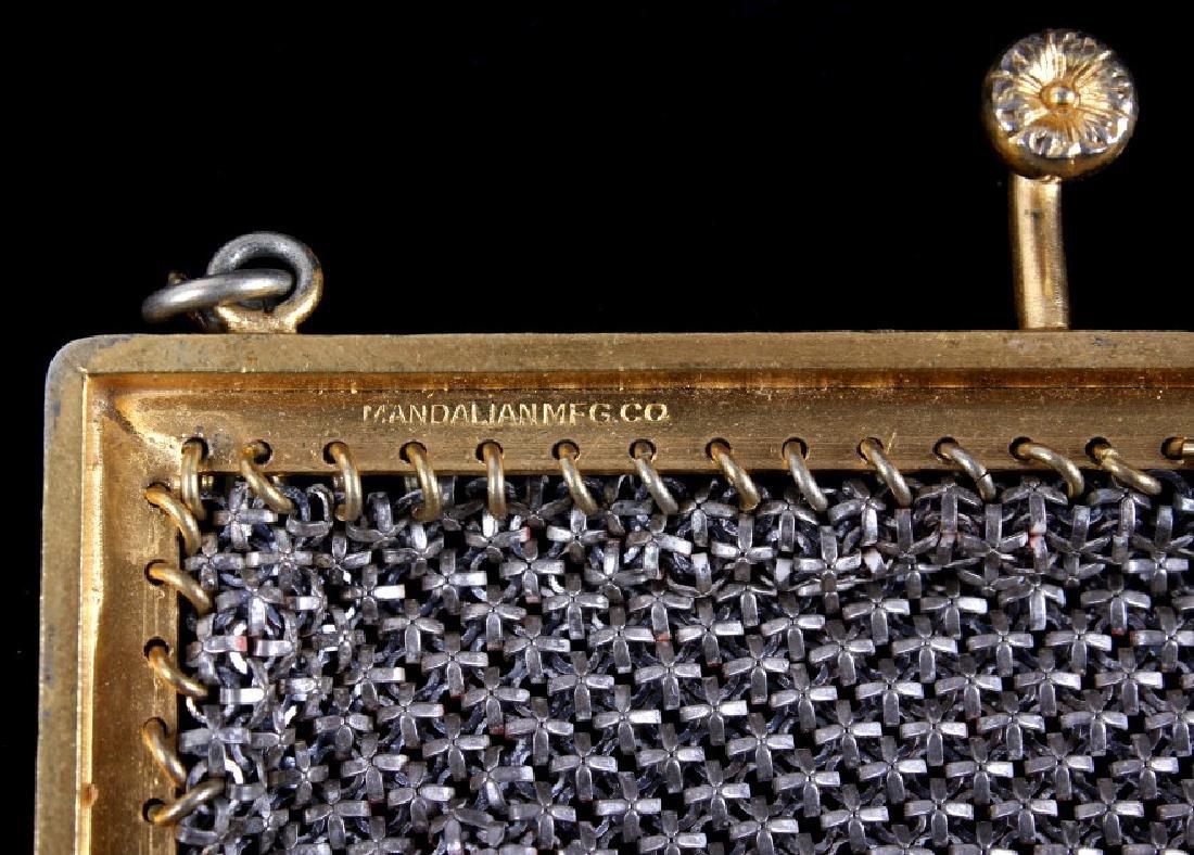 Mandalian Enameled Metal Mesh Handbag, 1920's-30's - 7