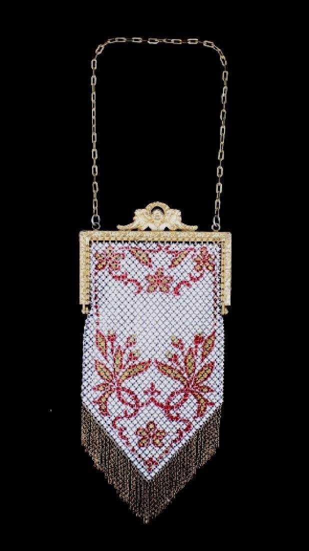 Mandalian Enameled Metal Mesh Handbag, 1920's-30's - 8