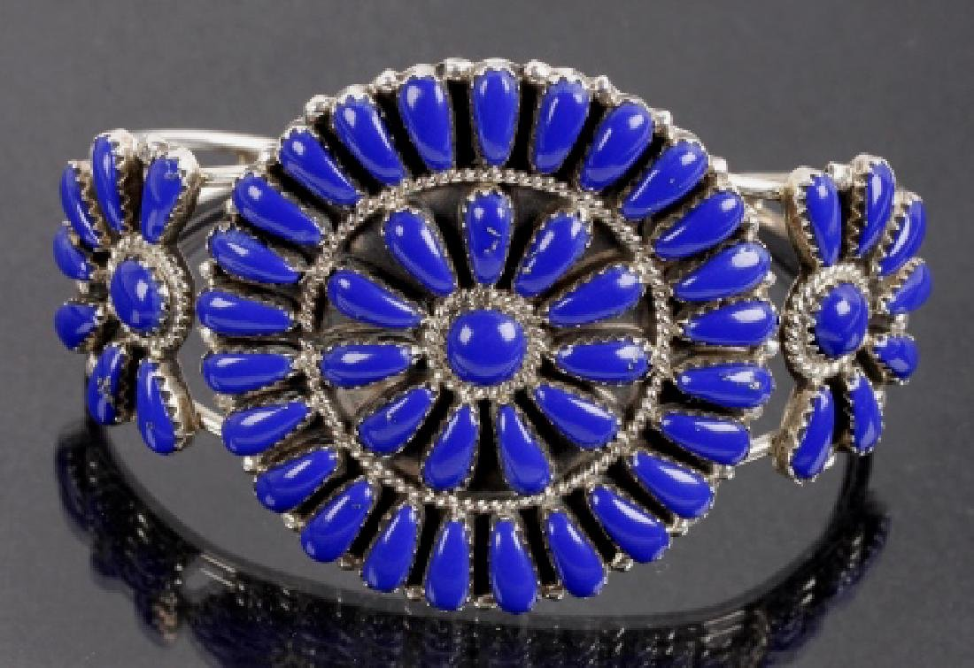 R. Williams Navajo Lapis Lazuli Petit Point Cuff