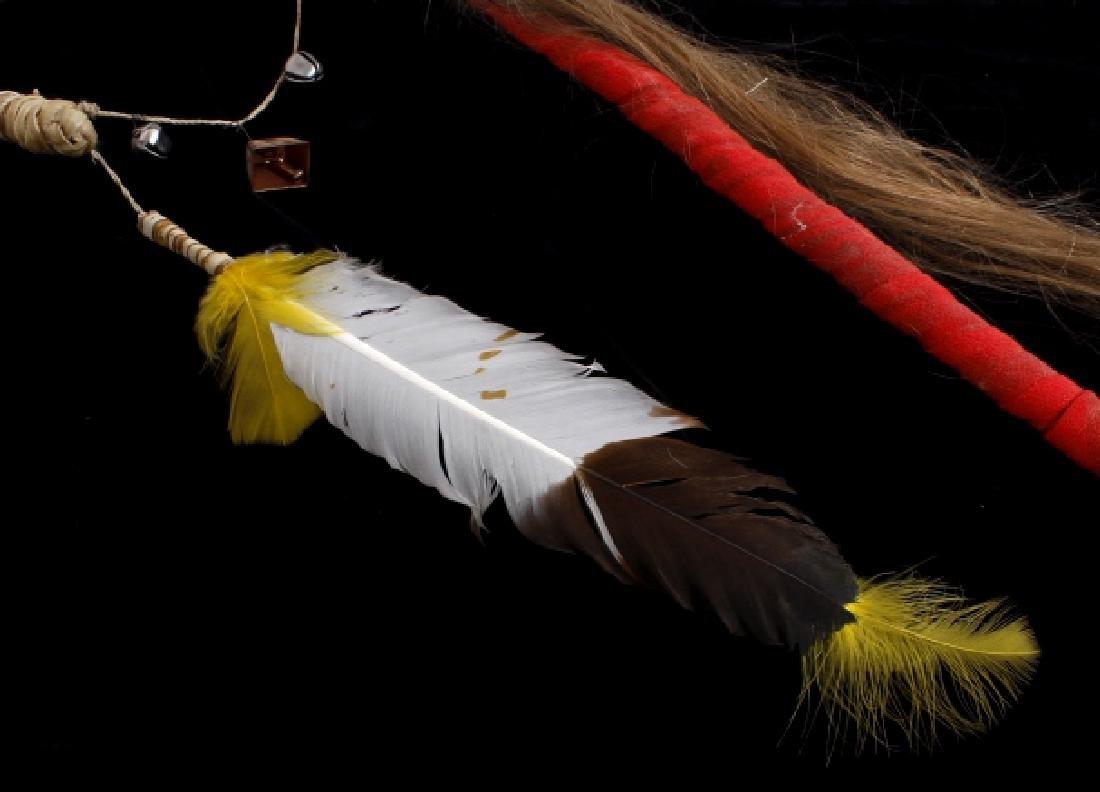 Plains Indian Ornate Chiefs Coup Stick - 5