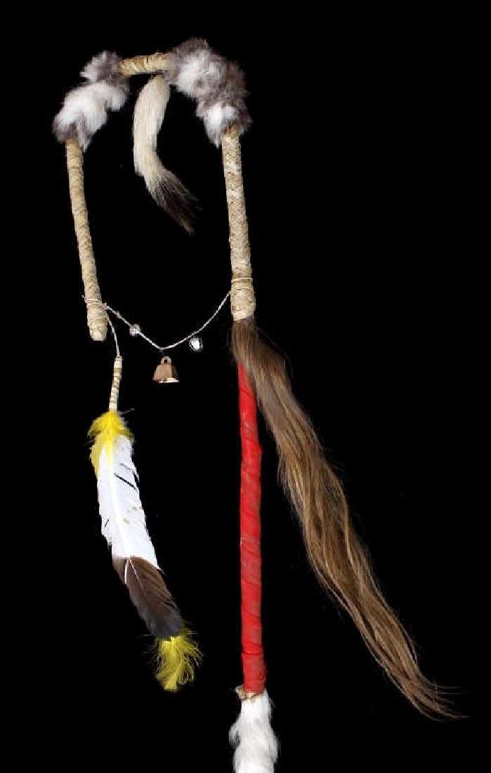 Plains Indian Ornate Chiefs Coup Stick - 6