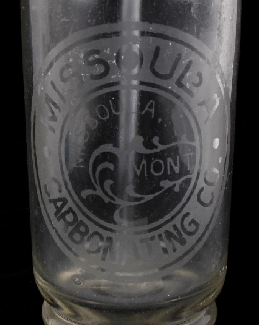 Missoula Carbonating Co. Antique Seltzer Bottle - 2