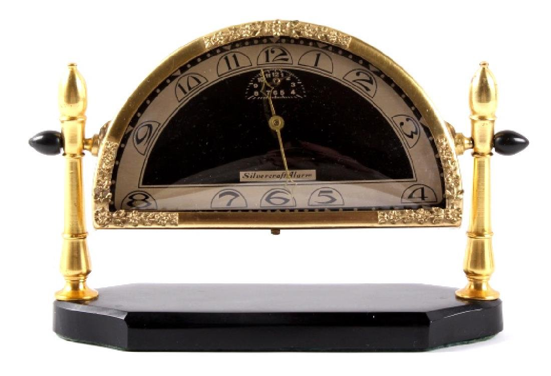 Silvercraft Alarm Art Deco Clock