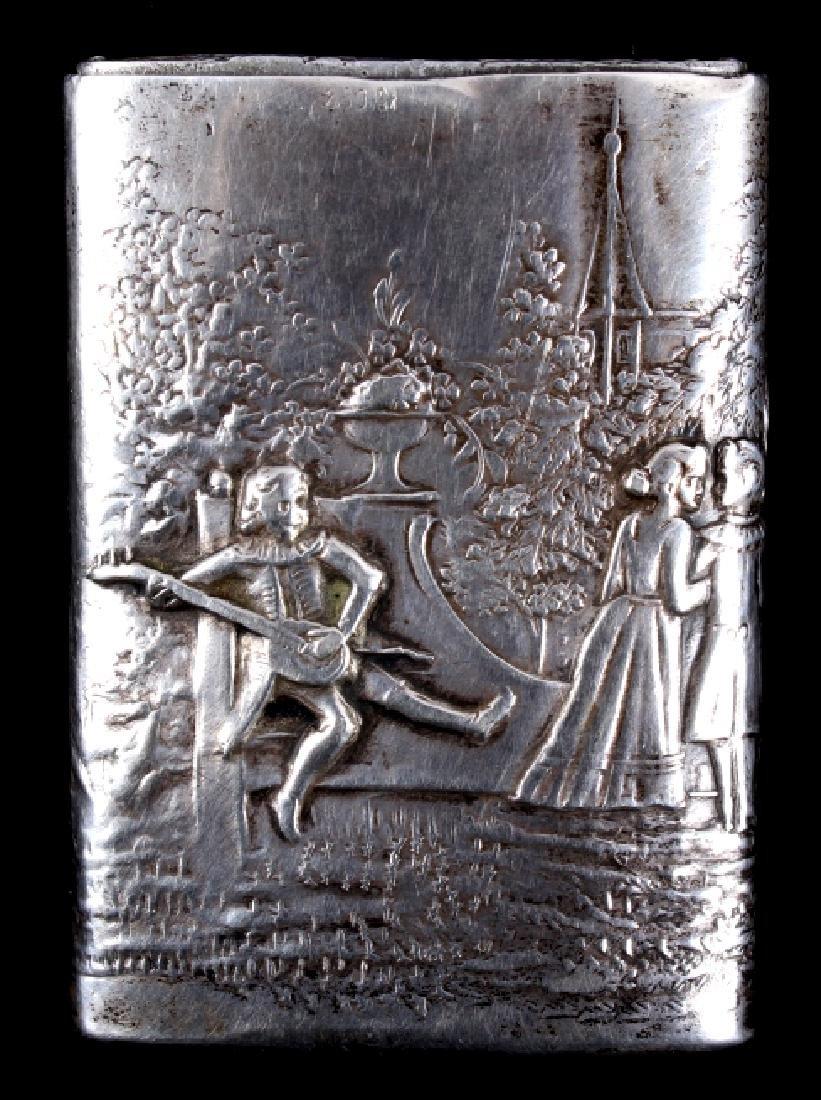 Antique Silver Match Safe