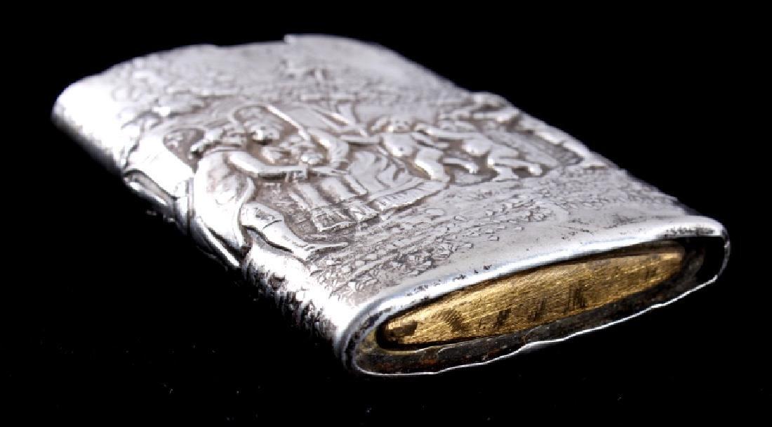 Antique Silver Match Safe - 4