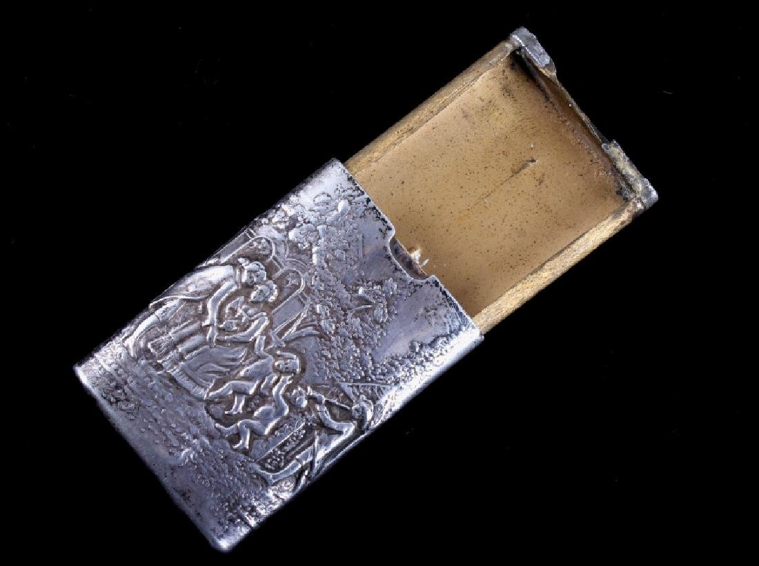 Antique Silver Match Safe - 5