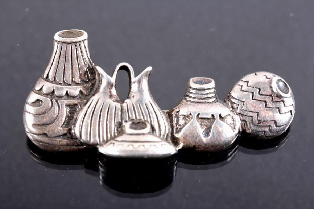 Three Sterling Silver Brooches - 10